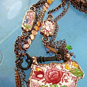 SOLD Dorchester Delight ~ Out of My Mind Collage Necklace