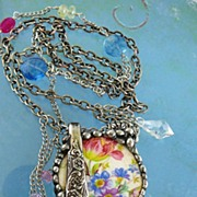 SOLD A Handle on the Matter ~ Out of My Mind Collage Necklace