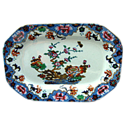 """SALE Spode Tray or Teapot Stand, New Stone, """"Willis"""" Pattern,  Antique Chinoiserie,"""