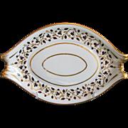 Worcester Teapot Stand, Barr Flight & Barr, Antique English Porcelain  c 1810