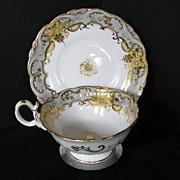 Coalport Cup & Saucer, Adelaide Shape, Antique c 1835