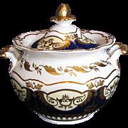 Rare John Yates Porcelain Sucrier/Sugar, c1825 English