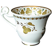 Rare Spode Cup, Green w/ Raised Gold, pattern 3916, Antique English Porcelain c 1822