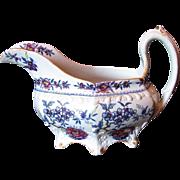Rare J & W Ridgway Creamer, Stone China, Antique Early 19th C English Chinoiserie