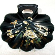 Papier Mache Bowl/Crumb Tray, Antique 19th C English Victorian