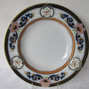 Staffordshire  Soup Plate, Transferware Nonpareil Pattern 2/7729, Antique 19th C English
