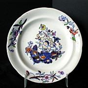 Davenport Muffin Plate, Stone China,  Antique 19th C English