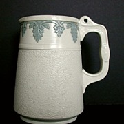 REDUCED English Stoneware Jug, Antique 19th C, Signed Brownfield
