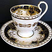 Ridgway Cup & Saucer, Antique Early 19th C English Porcelain
