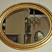 Very Nice French Gilt Oval Mirror