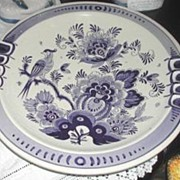 Delft Hand-painted Partridge Plate