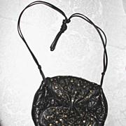 To Fab ViVa Black Leather Shoulder Bag