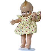 REDUCED All Composition Kewpie doll is fully  jointed