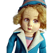 SALE Lenci Girl doll with coat and hat