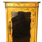 SOLD Antique Nineteenth Century French Miniature Hand-Painted Armoire