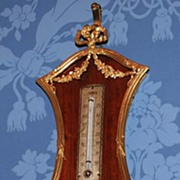 SOLD Nineteenth Century Rosewood Case French Hanging Barometer with Bronze Doré Ormolu