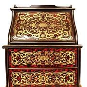 SOLD Rare Napoleon III Miniature Boulle Standing Bureau/Desk