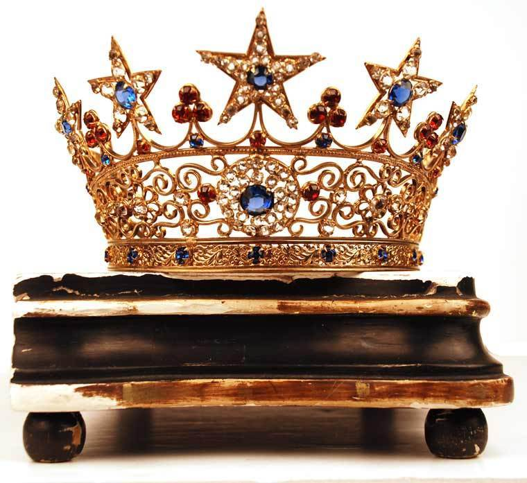Antique French Santos Crown Tiara From Parischateau On Ruby Lane
