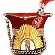"""SOLD Antique MIniature Military Hat """"L'Ancien Polonais Officier Garde Imperiale)"""