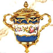 SOLD French Nineteenth Century Sevres Porcelain Boule Parfum w/Gilded bronze Monture
