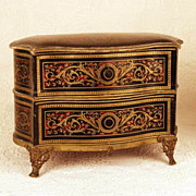 SOLD Antique French Confection Box in form of Miniature Boulle Commode