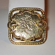 Vintage Freirich Victorian Revival Turtle Brooch - Signed