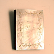 1860 French Fashion Doll Carnet Du Bal Mother of Pearl