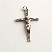 1902 Sterling Silver Crucifix Hallmarked 1 Inch long