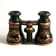 1890 French Enamel and Gold Gilt Opera Glasses