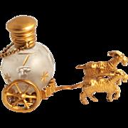 SOLD Palais Royal Antique Scent Bottle on Goat Cart 1860