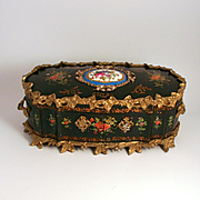 Large French Charles X Period 1830 Polychrome Ormolu and Serves Breakfront Jewellery Box Burr