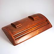 Art Deco Bakelite Inkstand Inkwells Pen Rests Writing Desk Accessory
