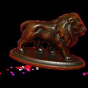 SOLD Bronze Lion, 1800's, Victorian Age, Connecticut