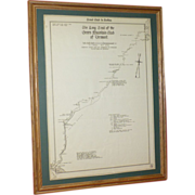 SOLD Long Trail Vermont,  Original 1921 Survey Map, Green Mountains, Part of Appalachian Trail