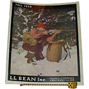SOLD Vintage Fall 1939, L.L.Bean Catalogue, All Original in Flawless Condition, Freeport Maine