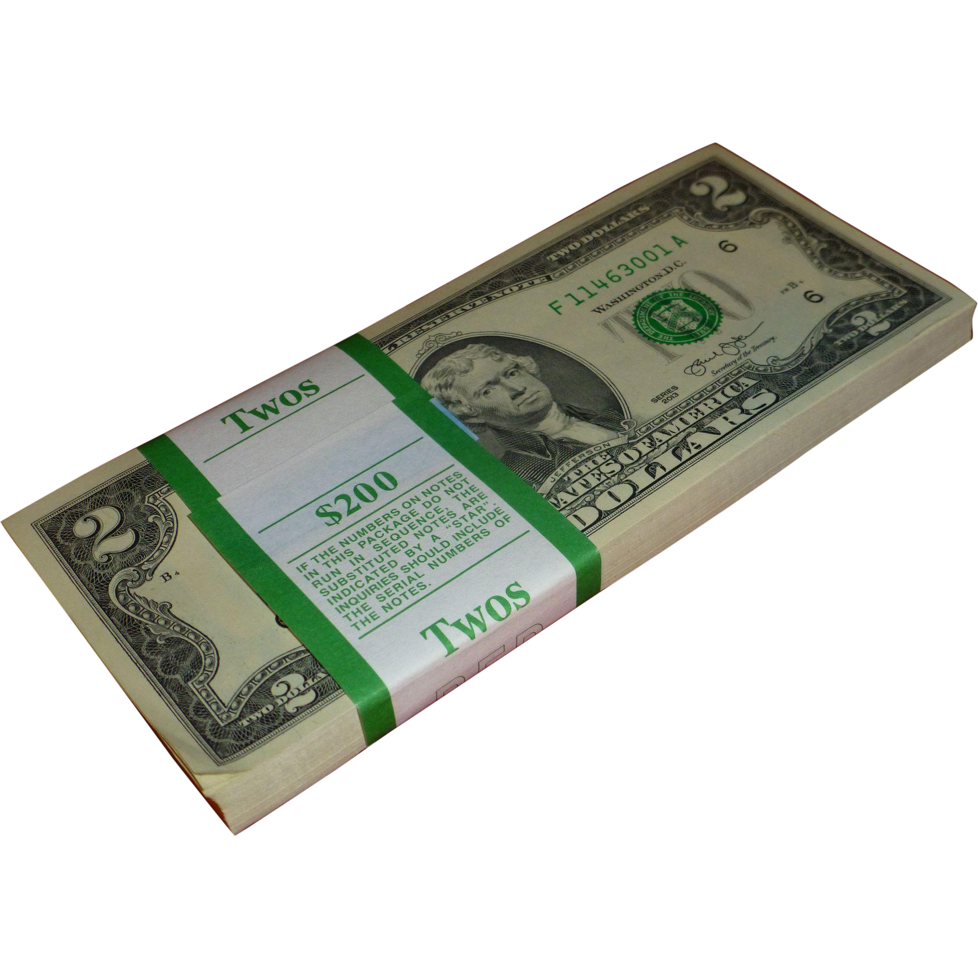 100 Two Dollar Bills Bureau Of Engraving And Printing