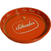 SALE 1960's Schaefer Beer Tray, Breweriana,