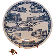 SALE Vintage Plate, Holden, Mass., 225 Year Anniversary of Town, 1741-1966, Flawless condition