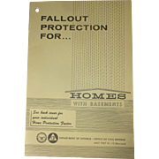 SALE 1967, USA Civil Defense, Nuclear Fallout Shelter Plans, Homeowner Cellars, Lyndon Johnson