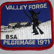 SALE Boy Scout Valley Forge Pilgrimage Patch, 1971, Pennsylvania