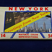 SALE Vintage New York and New Jersey Postcard Sets, 1950's,