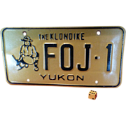 SOLD Alaska Klondike Gold Miner LIcense Plate, Genuine