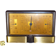 SOLD Art Deco Bakelite Weather Station, 1926Taylor Stormoguide, Barometer, Thermometer, Hygrom
