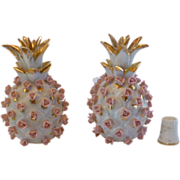 SALE Porcelain Perfume Bottle Set by Lefton, Pineapple, Early Japan,