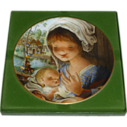 SALE Schmid Porcelain Plate, Avian Mother & Child, Signed Juan Ferrandiz, 1979, Germany, ...
