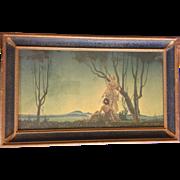 "REDUCED Vintage Hernando G. Villa Print ""Two Ladies at Twilight"""