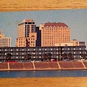 REDUCED Postcard The Downtowner Motor Inn, Corpus Christi, Texas