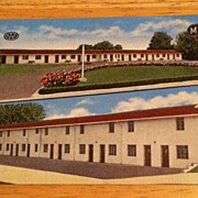 REDUCED Postcard Motel Lincoln, Massillon, Ohio