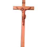REDUCED Vintage Crucifix Blessed by Pope Pius XII in 1953