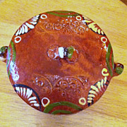 Vintage Mexican Pottery lidded bowl
